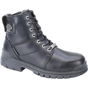 ハーレーダビッドソン Harley Davidson メンズ ブーツ シューズ・靴 Harley-Davidson Gage Comp Toe Work Boot Black|fermart-shoes