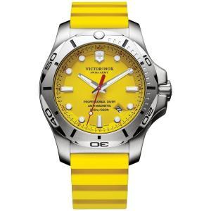 ビクトリノックス Victorinox Swiss Army メンズ 腕時計 Swiss I.N.O.X. Professional Diver Yellow Rubber Strap Watch 45mm 241735.1 Yellow|fermart-shoes