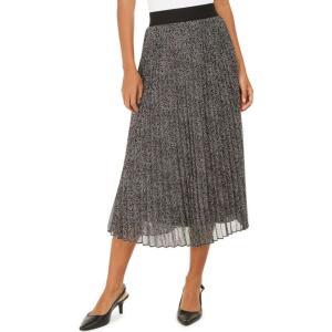 アルファニ Alfani レディース ひざ丈スカート スカート Pleated Metallic Midi Skirt's Texture Dance|fermart-shoes