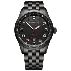 ビクトリノックス Victorinox Swiss Army メンズ 腕時計 Swiss Automatic Airboss Black PVD Stainless Steel Bracelet Watch 42mm 241740 Black|fermart-shoes