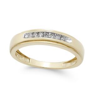 メイシーズ Macy's メンズ 指輪・リング ジュエリー・アクセサリー Diamond Band (1/6 ct. t.w.) in 10k Gold Yellow Gold|fermart-shoes