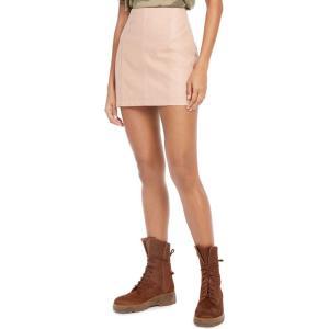 フリーピープル Free People レディース ミニスカート スカート Modern Femme Faux-Leather Mini Skirt Nude|fermart-shoes