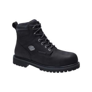 ハーレーダビッドソン Harley Davidson メンズ ブーツ シューズ・靴 Harley-Davidson Gavern Comp Toe Boot Blk Com|fermart-shoes