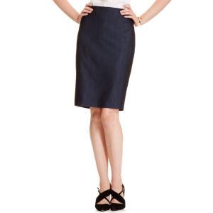 アン クライン Anne Klein レディース ひざ丈スカート スカート Denim Pencil Skirt Indigo Twill fermart-shoes