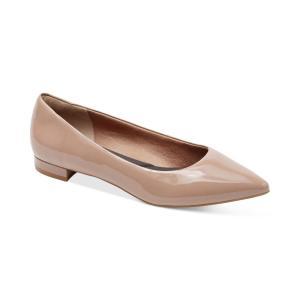 ロックポート Rockport レディース スリッポン・フラット シューズ・靴 Total Motion Adelyn Pointed-Toe Flats Taupe|fermart-shoes