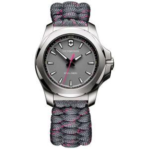 ビクトリノックス Victorinox Swiss Army レディース 腕時計 I.N.O.X. Gray Paracord Strap Watch 37mm Grey|fermart-shoes