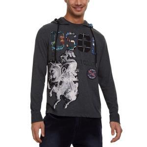 デジグアル Desigual メンズ Tシャツ トップス Eduard Graphic Hooded...
