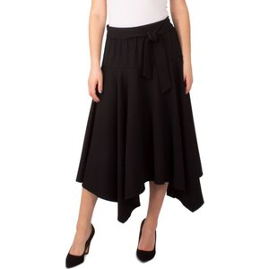 NY コレクション NY Collection レディース スカート Petite Tie-Front Knit Skirt Black|fermart-shoes