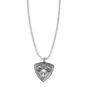 エフィー EFFY Collection メンズ ネックレス ジュエリー・アクセサリー EFFY Zodiac 22 Pendant Necklace in Sterling Silver Aries|fermart-shoes