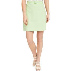 バースリー Bar III レディース ミニスカート スカート Belted Mini Skirt Key Lime Green|fermart-shoes