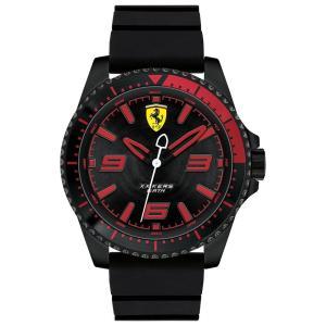 フェラーリ Ferrari メンズ 腕時計 XX Kers Black Silicone Strap Watch 44mm Black|fermart-shoes