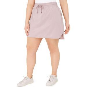 イデオロギー Ideology レディース ミニスカート 大きいサイズ スコート スカート plus size drawstring skort Sandy Mauve|fermart-shoes