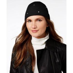 ケイト スペード kate spade new york レディース ニット 帽子 Bedazzled Wool Beanie Black|fermart-shoes