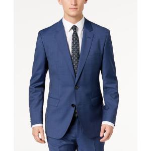 ヒューゴ ボス Hugo Boss メンズ スーツ・ジャケット アウター Modern-Fit Navy Micro-Tic Suit Jacket Navy|fermart-shoes