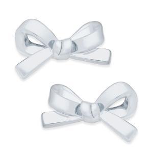 ケイト スペード kate spade new york ユニセックス イヤリング・ピアス ジュエリー・アクセサリー Bow Stud Earrings Silver|fermart-shoes