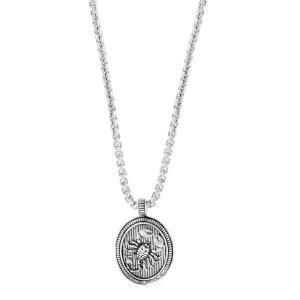 エフィー EFFY Collection メンズ ネックレス ジュエリー・アクセサリー EFFY Zodiac 22 Pendant Necklace in Sterling Silver Scorpio|fermart-shoes