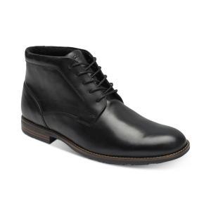 ロックポート Rockport メンズ ブーツ シューズ・靴 Dustyn Waterproof Leather Chukkas Black|fermart-shoes