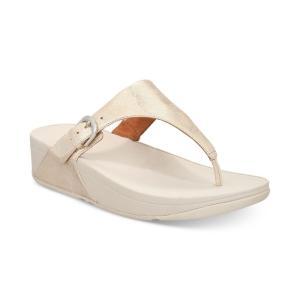 フィットフロップ FitFlop レディース サンダル・ミュール シューズ・靴 Skinny Toe-Thong Wedge Sandals Silver|fermart-shoes