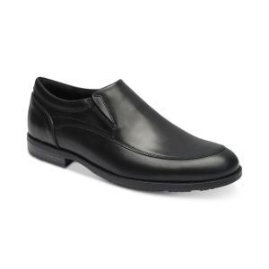 ロックポート Rockport メンズ スリッポン・フラット シューズ・靴 Dustyn Leather Slip-Ons Black|fermart-shoes