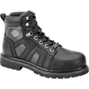 ハーレーダビッドソン Harley Davidson メンズ ブーツ シューズ・靴 Harley-Davidson Chad Steel Toe Work Boot Black|fermart-shoes