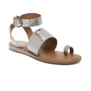 フランコサルト Franco Sarto レディース サンダル・ミュール シューズ・靴 Gracious Flat Sandals Pewter|fermart-shoes