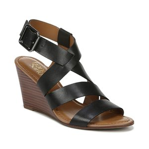 フランコサルト Franco Sarto レディース サンダル・ミュール シューズ・靴 Yara Wedge Sandals Black|fermart-shoes