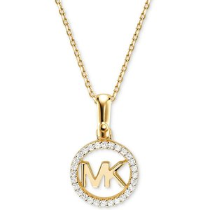 マイケル コース Michael Kors レディース ネックレス ジュエリー・アクセサリー Custom Kors Sterling Silver Logo Starter Necklace Gold|fermart-shoes