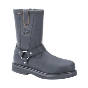 ハーレーダビッドソン Harley Davidson メンズ ブーツ シューズ・靴 Harley-Davidson Bill Steel Toe Work Boot Black|fermart-shoes