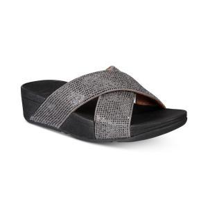 フィットフロップ FitFlop レディース サンダル・ミュール シューズ・靴 Ritzy Slide Sandals Pewter|fermart-shoes