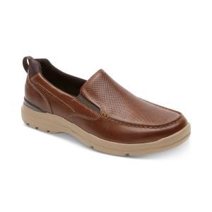 ロックポート Rockport メンズ スリッポン・フラット シューズ・靴 City Edge Leather Slip-Ons Boston Tan Leather|fermart-shoes
