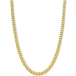 メイシーズ Macy's メンズ ネックレス ジュエリー・アクセサリー Flat Curb Link Chain 24 Necklace (8-7/8mm) in 18k Gold-Plated Sterling Silver|fermart-shoes