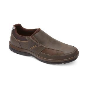 ロックポート Rockport メンズ スリッポン・フラット シューズ・靴 Get Your Kicks Slip On Brown|fermart-shoes