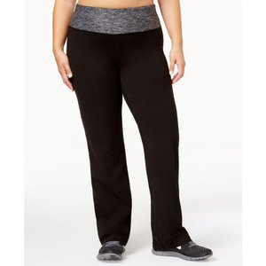 イデオロギー Ideology レディース ボトムス・パンツ ヨガ・ピラティス Plus Size Rapidry Open-Leg Yoga Pants's Noir|fermart-shoes