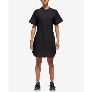 アディダス adidas レディース ワンピース ワンピース・ドレス T-Shirt Dress Black|fermart-shoes