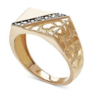 メイシーズ Macy's ユニセックス 指輪・リング ジュエリー・アクセサリー Diamond Accent Nugget Ring in 10k Gold Yellow Gold|fermart-shoes