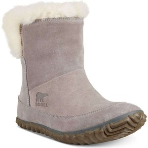 ソレル Sorel レディース スリッパ シューズ・靴 Out N About Bootie Slippers Chrome Grey|fermart-shoes