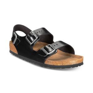 ビルケンシュトック Birkenstock メンズ サンダル シューズ・靴 Milano Leather Buckle Sandals Amalfi Black fermart-shoes