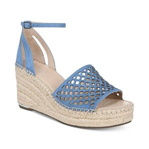 フランコサルト Franco Sarto レディース エスパドリーユ シューズ・靴 Calabria Platform-Wedge Espadrille Sandals's Cornflower Blue|fermart-shoes