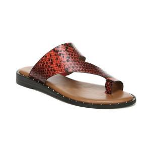フランコサルト Franco Sarto レディース サンダル・ミュール シューズ・靴 Ginny Toe Thong Sandals Red Snake Print|fermart-shoes