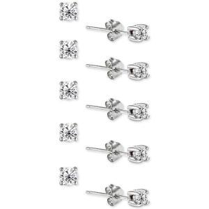 ジャーニ ベルニーニ Giani Bernini レディース イヤリング・ピアス ジュエリー・アクセサリー 5-Pc. Set Cubic Zirconia Stud Earrings Silver|fermart-shoes