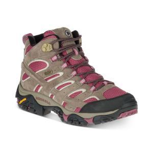 メレル Merrell レディース スニーカー シューズ・靴 Moab 2 Mid Waterproof Sneakers Boulder|fermart-shoes