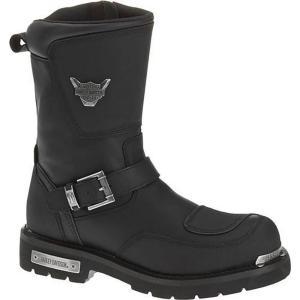 ハーレーダビッドソン Harley Davidson メンズ ブーツ シューズ・靴 Harley-Davidson Shift Motorcycle Riding Boot Blk En|fermart-shoes