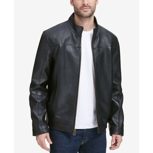 コールハーン Cole Haan メンズ レザージャケット アウター Leather Jacket Black fermart-shoes