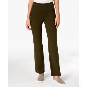 スタイル&コー Style & Co レディース ボトムス・パンツ ヨガ・ピラティス Petite Tummy-Control Bootcut Yoga Pants Evening Olive|fermart-shoes