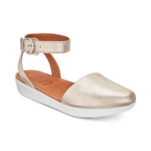 フィットフロップ FitFlop レディース サンダル・ミュール シューズ・靴 Cova Sandals Metallic Silver|fermart-shoes