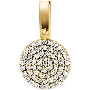 マイケル コース Michael Kors レディース ジュエリー・アクセサリー Custom Kors Sterling Silver Pave Disc Charm Gold|fermart-shoes
