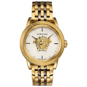 ヴェルサーチ Versace メンズ 腕時計 Swiss Palazzo Empire Two-Tone Stainless Steel Bracelet Watch 43mm Silver|fermart-shoes