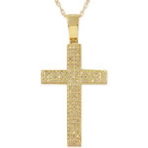メイシーズ Macy's ユニセックス ネックレス ジュエリー・アクセサリー Diamond Geometric Cross Pendant Necklace (1/2 ct. t.w.) in 10k Gold Yellow Gold|fermart-shoes