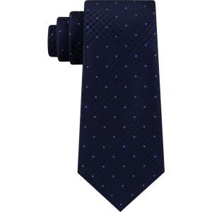 マイケル コース Michael Kors メンズ ネクタイ Dotted Glen-Check Silk Tie Navy fermart-shoes