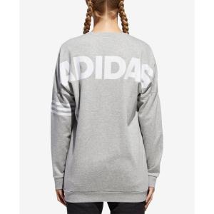 アディダス adidas レディース スウェット・トレーナー トップス Relaxed Logo Sweatshirt Medium Grey Heather|fermart-shoes